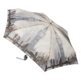 英国王室御用達フルトン社 x ロンドンナショナルギャラリー美術館 コラボ商品 折りたたみ傘 モネ「ウェストミンスター脇のテムズ川」柄