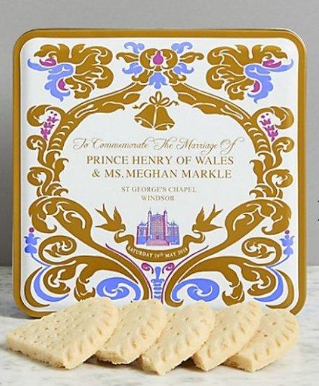 ヘンリー王子&メーガンマークルさん ご結婚記念 マークス&スペンサー社 ロイヤルウェディング缶 ショートブレッド(クッキー)