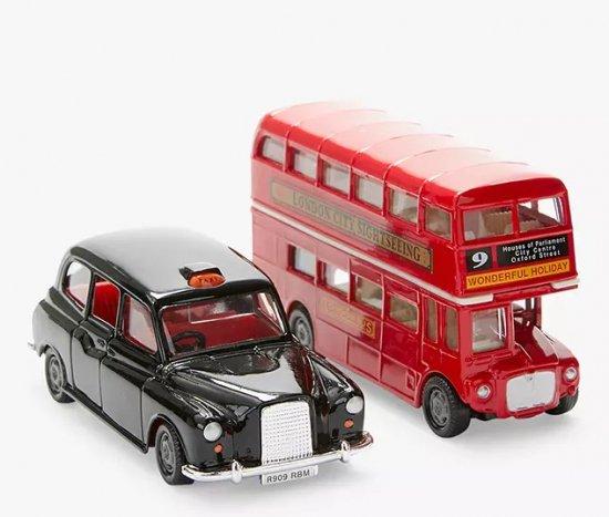 ロンドン二階建バス & タクシー   モデルカー・セット