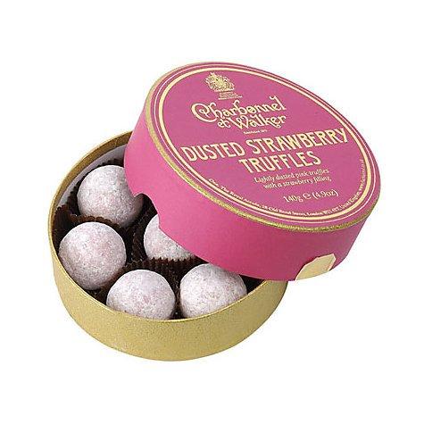 英国王室御用達 シャルボネル・エ・ウォーカー社  ダステット・ストロベリー トリュフ チョコレート