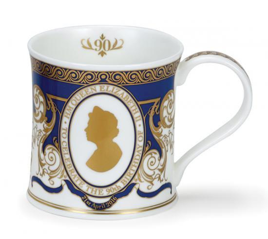エリザベス女王 90歳の誕生日記念 ダヌーン社のマグカップ / シルエット