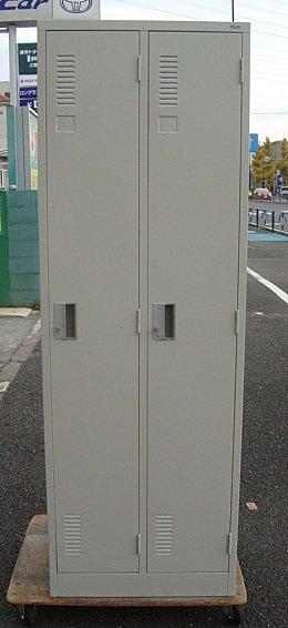 【中古品】 プラス 2人用ロッカー エルグレー
