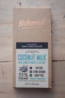 Nohmad Snack Co. ( CA. ) COCONUT MILK WITH JUNGLE PEANUTS & SEA SALT CHOCOLATE
