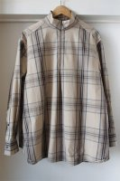 Studio Nicholson ( ENGLAND ) EDWARDS MADRAS ZIP SHIRT
