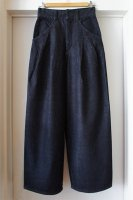 [ JAPAN DENIM ] CINOH HI-WAIST SELVEDGE WIDE PANTS