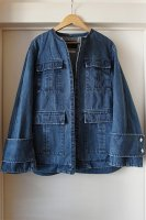 <img class='new_mark_img1' src='https://img.shop-pro.jp/img/new/icons50.gif' style='border:none;display:inline;margin:0px;padding:0px;width:auto;' />[ JAPAN DENIM ] CINOH NO COLLAR JACKET