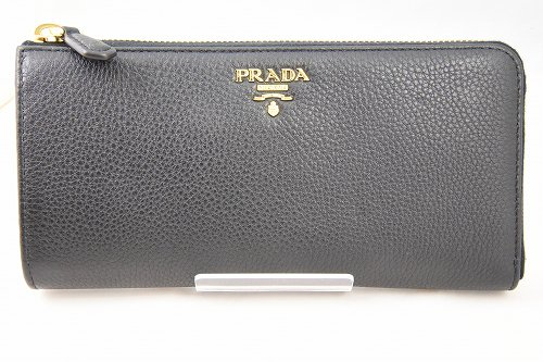 PRADA 最高級ソフトレザー L型ジップ長財布 黒