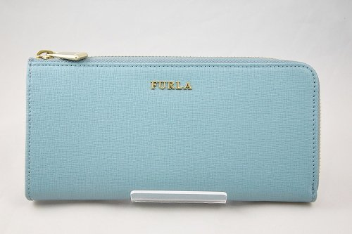 FURLA BABYLON L型ジップ長財布 ターコイズブルー
