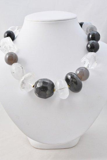 フィリップフェランディス(Philippe Ferrandis)白黒系天然石ネックレス