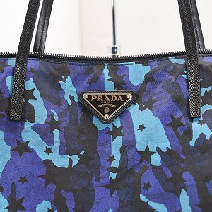 <img class='new_mark_img1' src='https://img.shop-pro.jp/img/new/icons13.gif' style='border:none;display:inline;margin:0px;padding:0px;width:auto;' />【PRADA】【プラダ】テスート ブルーカラー リバーシブルトート
