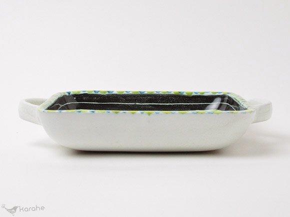 JaNi Keramik 持ち手付きスクエアプレート