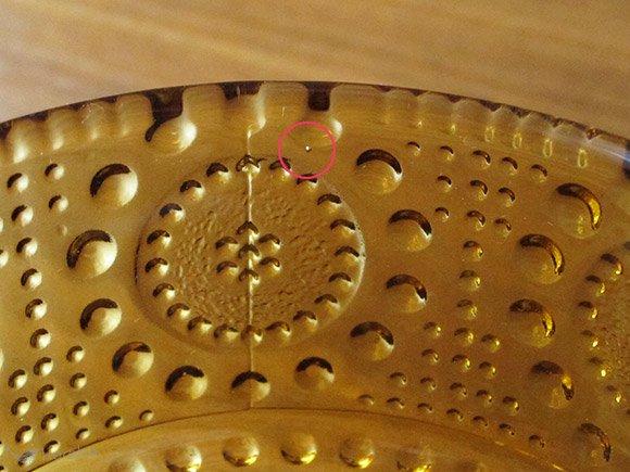 Riihimaen Lasi Grapponia ボウル 9.5cm ブラウン
