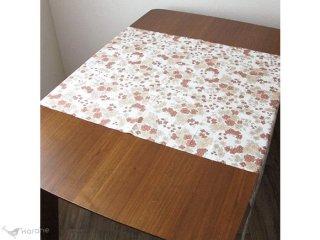ヴィンテージ生地 ブラウンのお花とグレーの葉 92×64cm 【切売り】