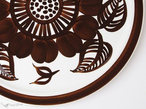 Arabia Kookki プレート 29.5cm ブラウン