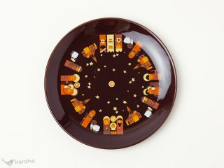 Sodahl クリスマスプレート ブラウン 19.5cm
