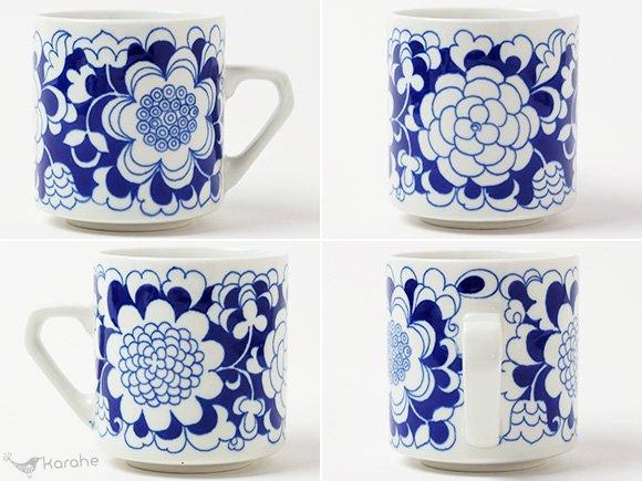 Arabia Gardenia コーヒーカップ&ソーサー ブルー
