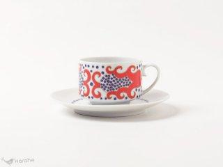 Arabia Esmeralda コーヒーカップ&ソーサー レッド