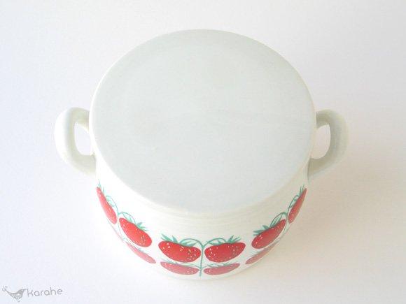 アラビア ポモナ ジャムポット ストロベリー持ち手付き / Arabia Pomona Strawberry