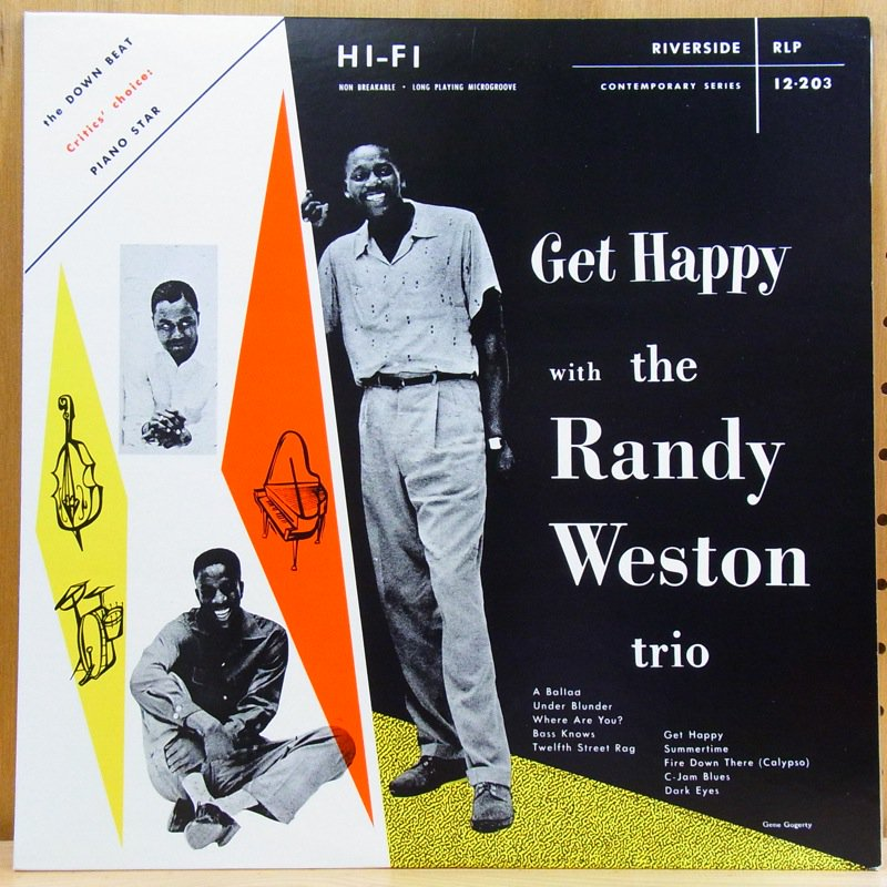 THE RANDY WESTON TRIO - GET HAPPY WITH THE RANDY WESTON TRIO - LP