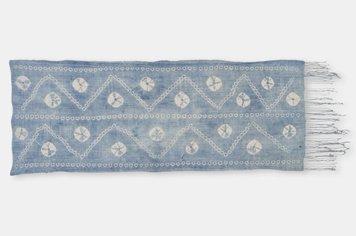 ブルキナファソ モシ族 ヴィンテージ 藍染め布 絞り