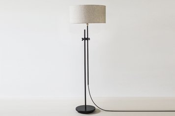 Workstead shaded floor lamp black workstead shaded floor lamp black mozeypictures Gallery