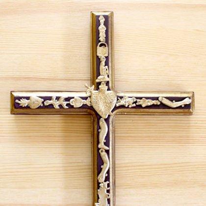 メキシコ 十字架ミラグロ細L(E)