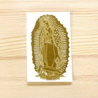 メキシコ マリアステッカーS(ゴールド)