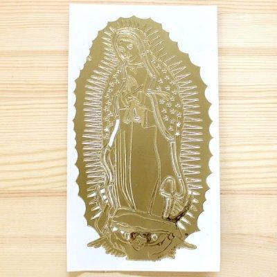 メキシコ マリアステッカーL(ゴールド)
