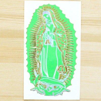 メキシコ マリアステッカーL(グリーン)
