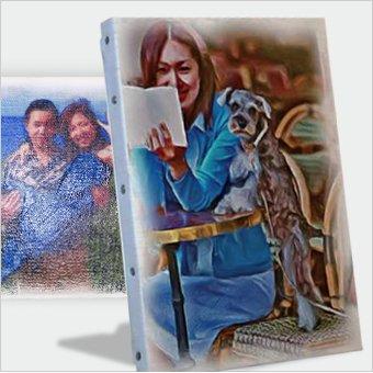 写真を絵画アートにして贈れるプレゼント
