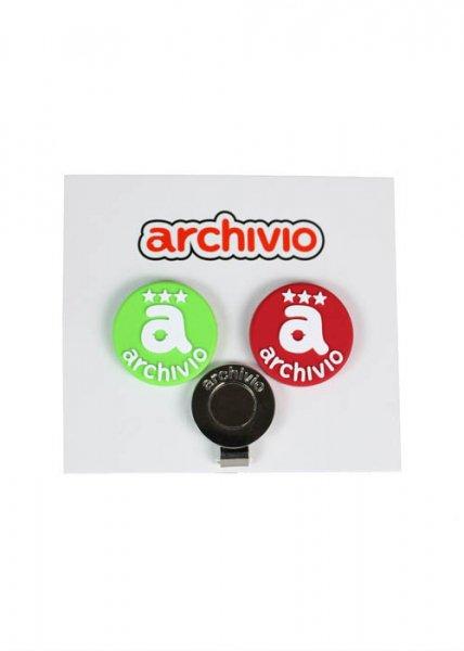 archivio(アルチビオ)/ロゴマーカー(RED&GREEN)【メール便OK】