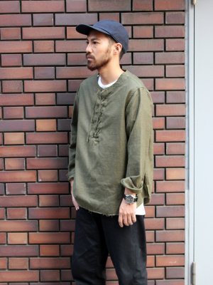 【bukht】 LACE UP SHIRTS -Satin Back-