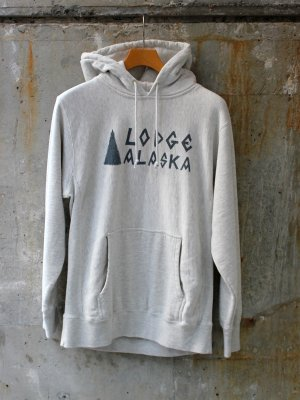 【TACOMA FUJI RECORDS】 Lodge ALASKA HOODIE (12oz)  designed by Matt Leines