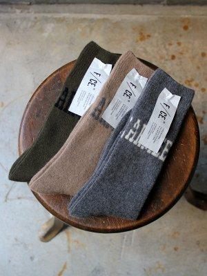 【F/CE】  WOOL LOGO SOCKS