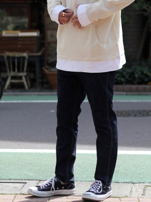 <img class='new_mark_img1' src='//img.shop-pro.jp/img/new/icons15.gif' style='border:none;display:inline;margin:0px;padding:0px;width:auto;' />【bukht】 SLIM TAPERED 5P JEANS -ONE WASH-
