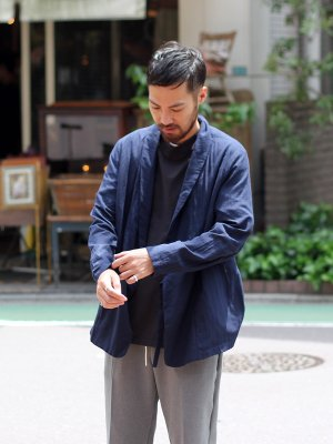 【Manual Alphabet】 COOLISH LINEN CARDIGAN