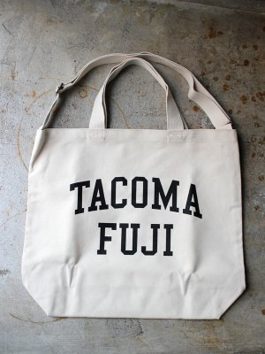 <img class='new_mark_img1' src='//img.shop-pro.jp/img/new/icons15.gif' style='border:none;display:inline;margin:0px;padding:0px;width:auto;' />【TACOMA FUJI RECORDS】   TACOMA FUJI COLLEGE LOGO TOTE  -2色展開-