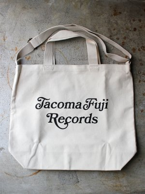 <img class='new_mark_img1' src='//img.shop-pro.jp/img/new/icons15.gif' style='border:none;display:inline;margin:0px;padding:0px;width:auto;' />【TACOMA FUJI RECORDS】   TACOMA FUJI RECORDS CURSIVE TOTE -2色展開-