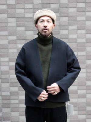 <img class='new_mark_img1' src='//img.shop-pro.jp/img/new/icons15.gif' style='border:none;display:inline;margin:0px;padding:0px;width:auto;' />【ITTY-BITTY】 ヘアラインメルトン ジャケット -1色展開-