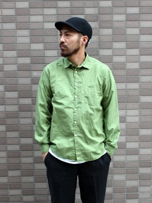 【Manual Alphabet】 LOOSE FIT REGULAR COLLAR SHT -5色展開-