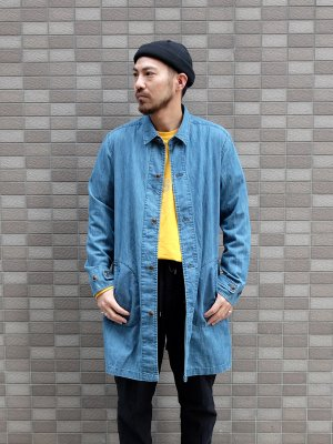 <img class='new_mark_img1' src='//img.shop-pro.jp/img/new/icons15.gif' style='border:none;display:inline;margin:0px;padding:0px;width:auto;' />【Manual Alphabet】 6oz DENIM SHIRT COAT