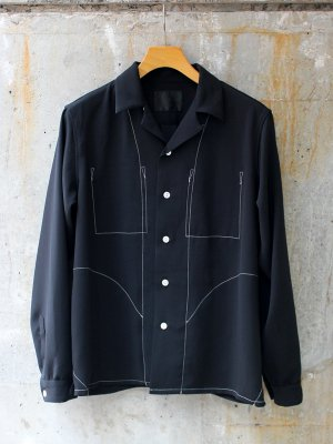 <img class='new_mark_img1' src='//img.shop-pro.jp/img/new/icons15.gif' style='border:none;display:inline;margin:0px;padding:0px;width:auto;' />【bukht】 NEW OPEN COLLAR SHIRTS  -2色展開-