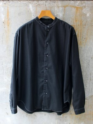 <img class='new_mark_img1' src='//img.shop-pro.jp/img/new/icons15.gif' style='border:none;display:inline;margin:0px;padding:0px;width:auto;' />【bukht】 NEW BAND COLLAR SHIRTS  -1色展開-