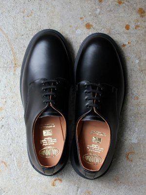 <img class='new_mark_img1' src='//img.shop-pro.jp/img/new/icons15.gif' style='border:none;display:inline;margin:0px;padding:0px;width:auto;' /> 【SOLOVAIR】 PLAIN TOE 4 EYELET LEATHER SHOES  -HI SHINE-