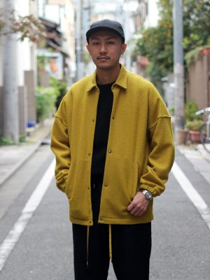 <img class='new_mark_img1' src='//img.shop-pro.jp/img/new/icons15.gif' style='border:none;display:inline;margin:0px;padding:0px;width:auto;' />【KICS DOCUMENT.】 KNIT MELTON HUGE COACH JK -1色展開-