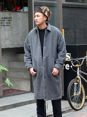 <img class='new_mark_img1' src='//img.shop-pro.jp/img/new/icons15.gif' style='border:none;display:inline;margin:0px;padding:0px;width:auto;' />【KICS DOCUMENT.】 PILE BOA HUGE COACH JACKET -1色展開-