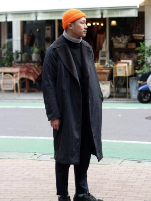 <img class='new_mark_img1' src='//img.shop-pro.jp/img/new/icons15.gif' style='border:none;display:inline;margin:0px;padding:0px;width:auto;' />【KICS DOCUMENT.】 NYLON HUGE COAT -1色展開-
