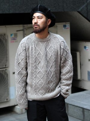 <img class='new_mark_img1' src='//img.shop-pro.jp/img/new/icons20.gif' style='border:none;display:inline;margin:0px;padding:0px;width:auto;' />(20%OFF)【snow peak】Alpaca Knit Pullover -2色展開-
