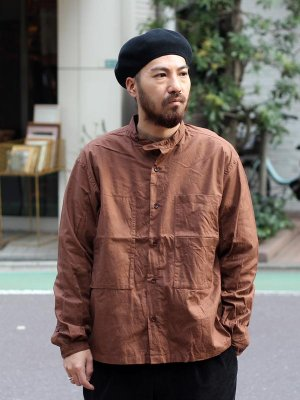 <img class='new_mark_img1' src='//img.shop-pro.jp/img/new/icons15.gif' style='border:none;display:inline;margin:0px;padding:0px;width:auto;' />【Manual Alphabet】 GACHAPOKE BAND COLLAR JACKET  -3色展開-