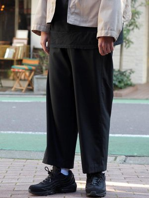 <img class='new_mark_img1' src='//img.shop-pro.jp/img/new/icons15.gif' style='border:none;display:inline;margin:0px;padding:0px;width:auto;' />【bukht】WASHABLE WOOL E/S TROUSERS  -2色展開-